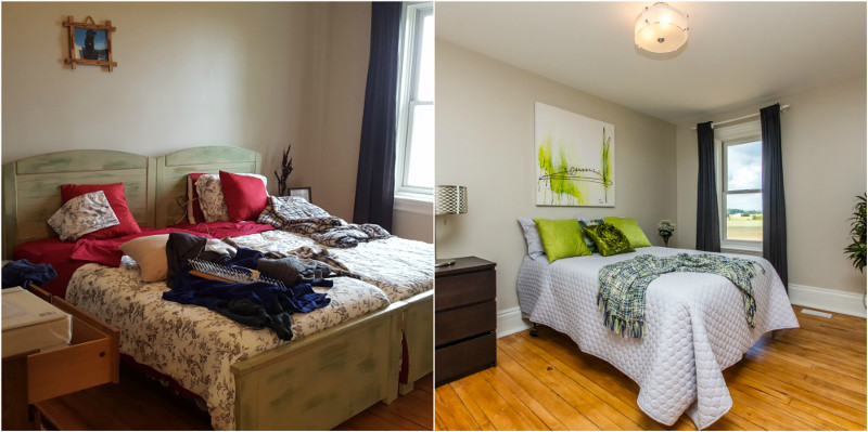 Before and After Spare Bedroom